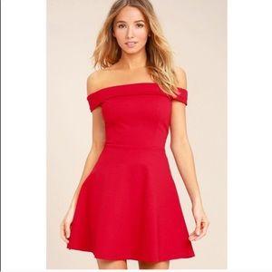 Lulus | NWT Red Off Shoulder Mini Dress